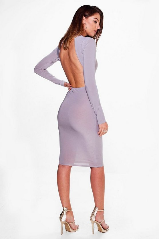 Yasmin Slinky Open Back Midi Dress