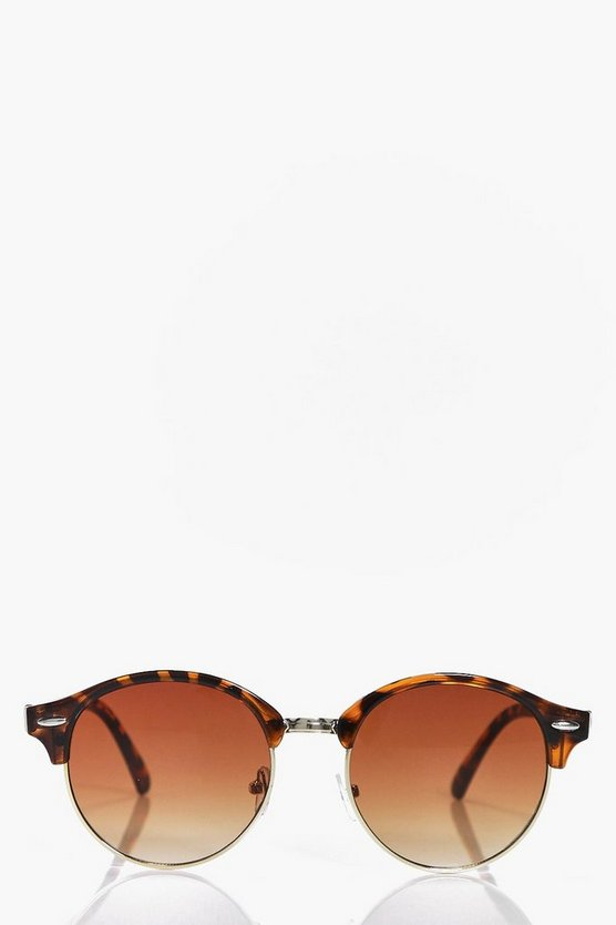 Diana Half Frame Round Wayfarer Fashion Glasses