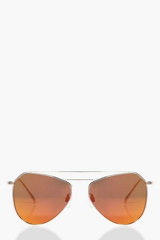 Hope Oversized Metal Aviator Fashion Glasses