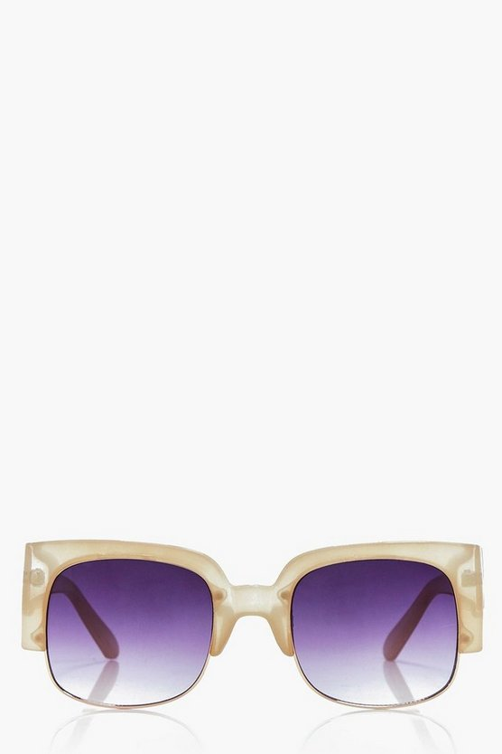 Frankie Oversized Cut Out Nude fashion glasses