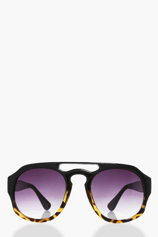 Orla Retro Brow Bar Tortoise Fashion Glasses