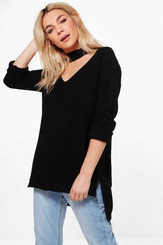 Holly Choker Knit Tunic