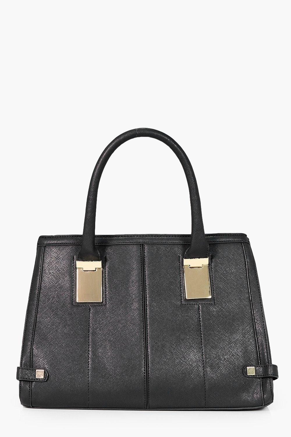 Crosshatch Tote - black - Tabitha Crosshatch Tote