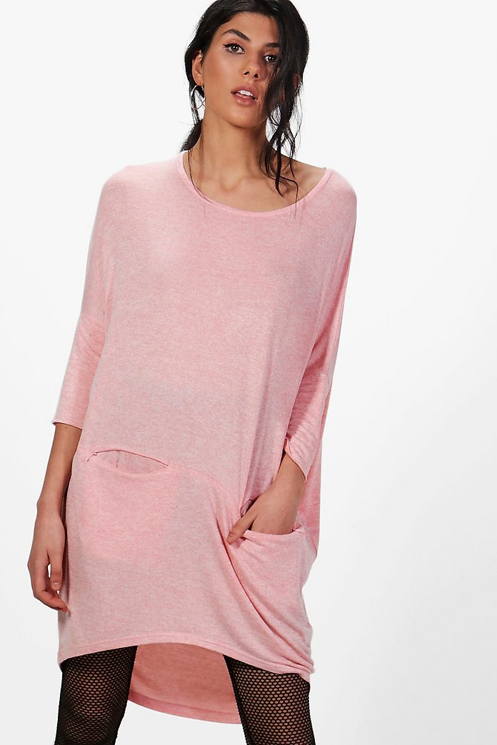 Melissa Slouchy Oversized Marl Knit Top