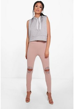 Florence Split Knee Studded High Waist Leggings