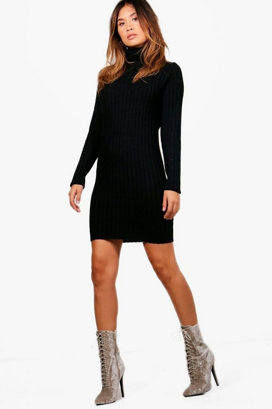 Lucy Longline Ribbed Roll Neck Tunic