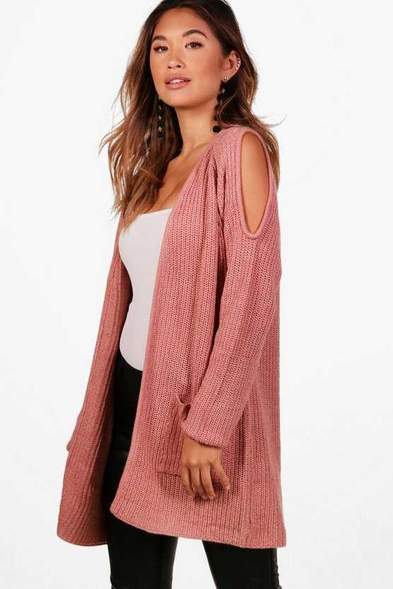 Kerry Cold Shoulder Edge To Edge Cardigan