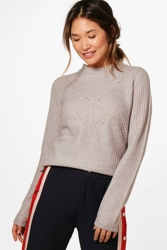 Caroline Turtle Neck Ribbed Jumper