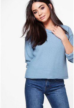 Amber Triangle Stitch Cropped Jumper