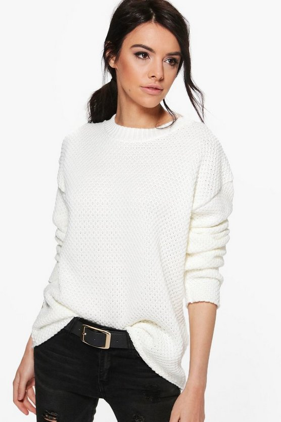 Annie Triangular Knit Oversized Jumper