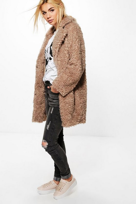 Tanya Teddy Fur Coat