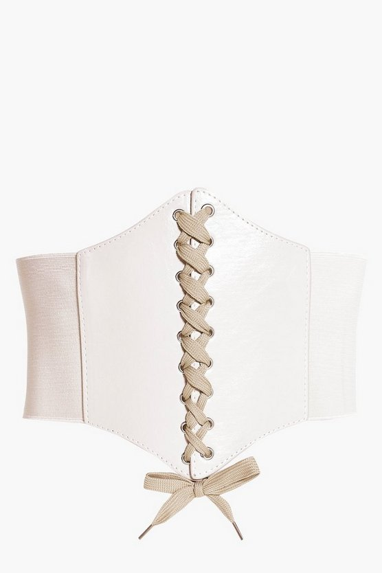 Tilly Nude Lace Up Corset Belt