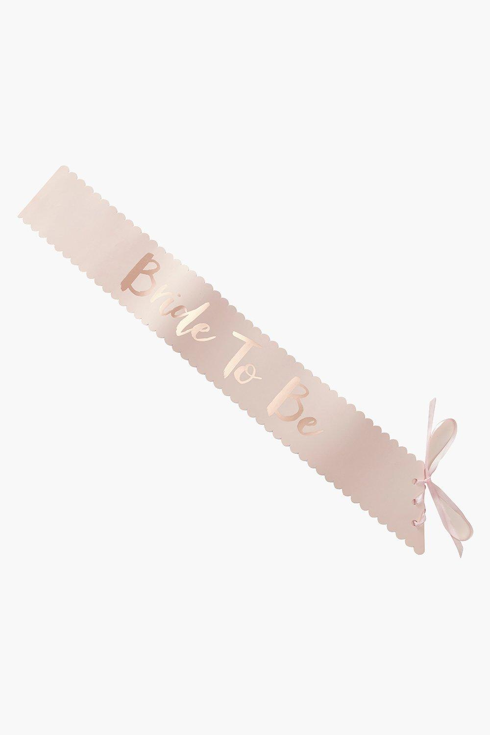 Metallic Rose Gold Sash - rose gold - Bride Metall