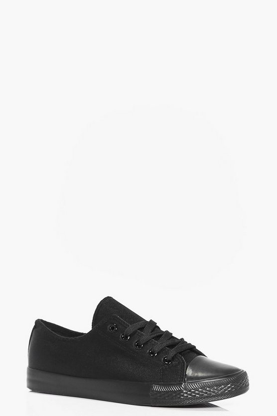 Emma Satin Lace Up Trainer Pump