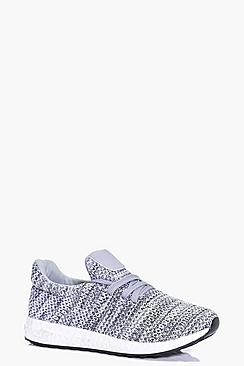 Millie Knitted Lace Up Trainer