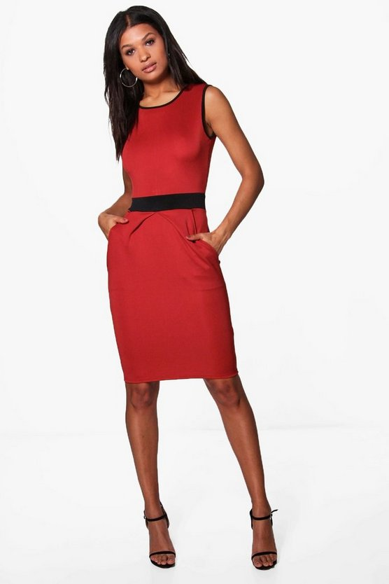 Lily Contrast Panel Tailored Dress