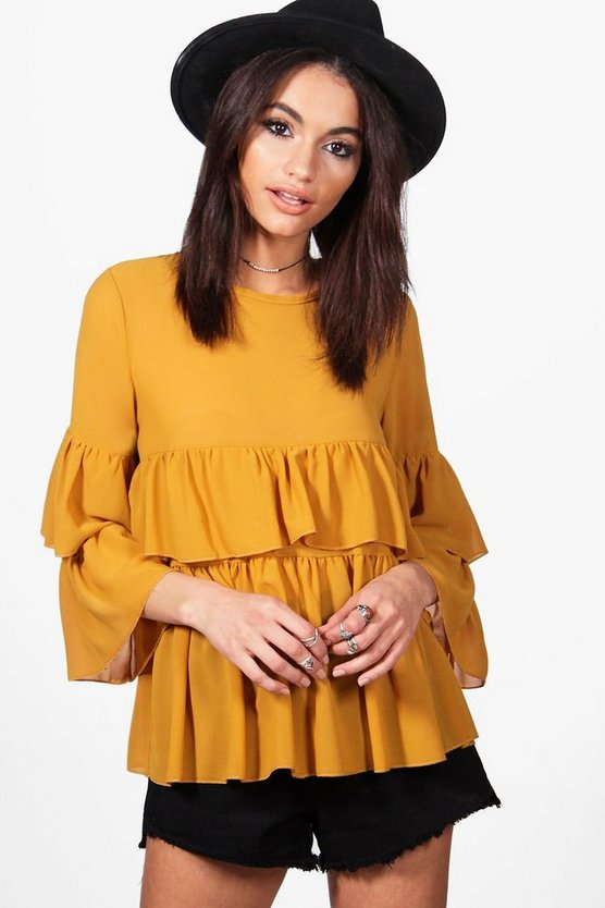 Ruffle Tiered Blouse