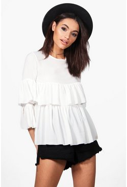 Ella Ruffle Tiered Blouse