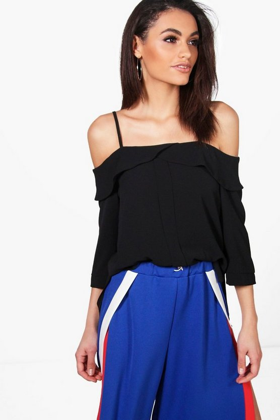 Ava Cold Shoulder Woven Top
