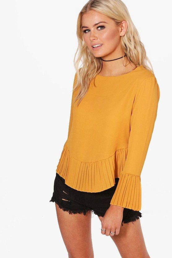 Stella Pleated Hem Blouse