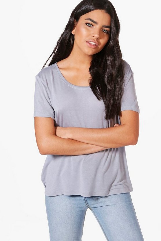 Lucia Basic Scoop Neck T-Shirt