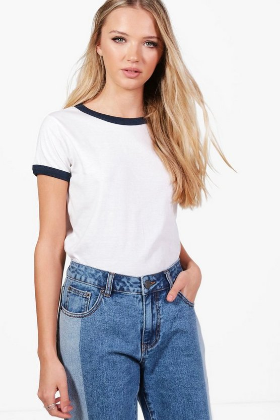 Harriet Cotton Ringer Basic T-Shirt