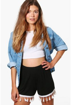 Alex Tassle Trim Flippy Shorts