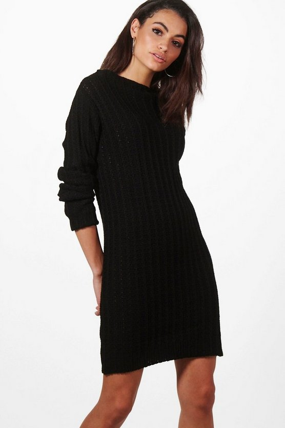 Faye Funnel Neck Knitted Dress
