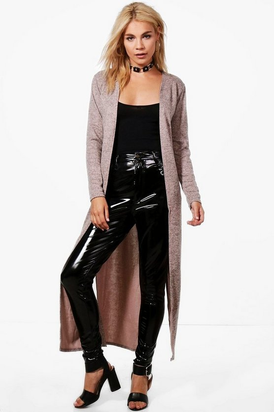 Karen Maxi Side Split Cardigan