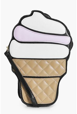 Nina Black Ice Cream Cross Body Bag