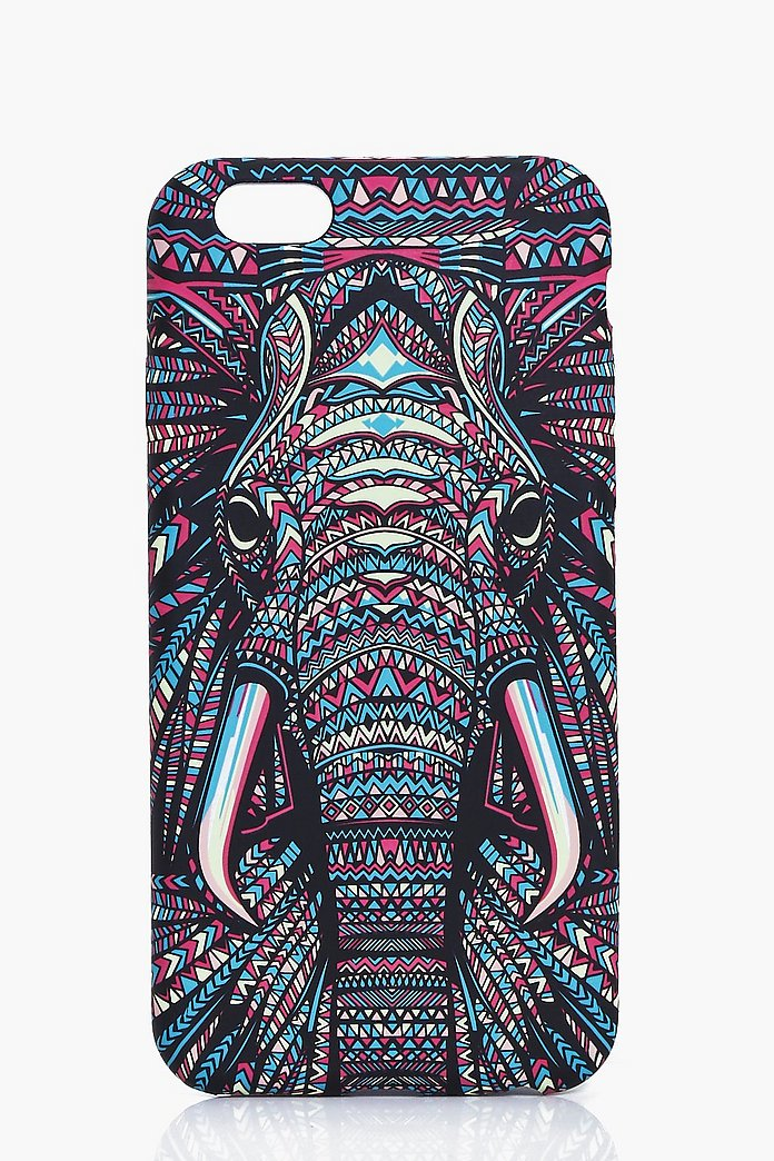 Elephant Aztec Print iPhone Case