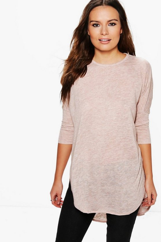 Maria 2 in 1 Chiffon Insert Oversized Knit Top