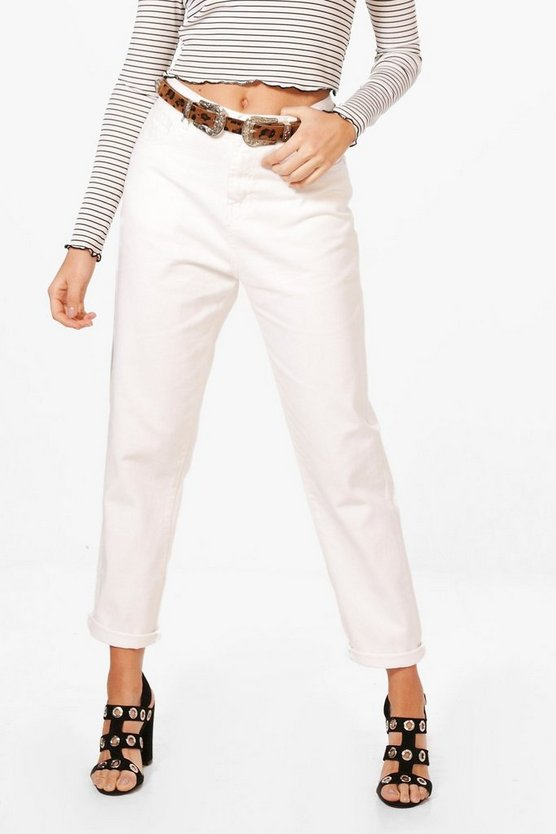 Sophie High Waist Roll Hem Mom Jeans