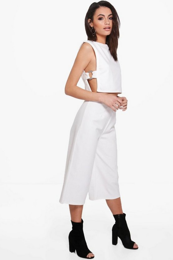 Fran O-Ring Tabard Crop & Culotte Co-ord Set