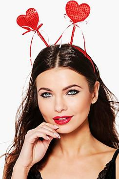 Ella Sequin Ribbon Love Heart Headband