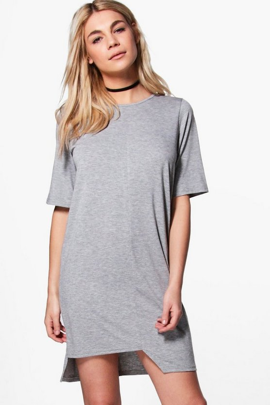 Zandra Stepped Hem T-Shirt Dress