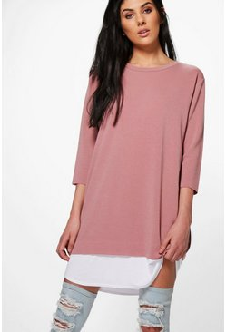 Adelita Oversized Layered Shift Dress
