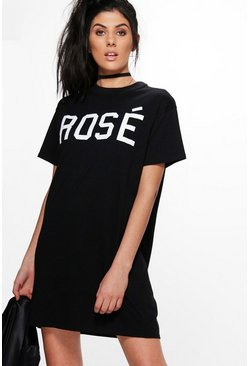 Aleesha Rose Slogan T-Shirt Dress