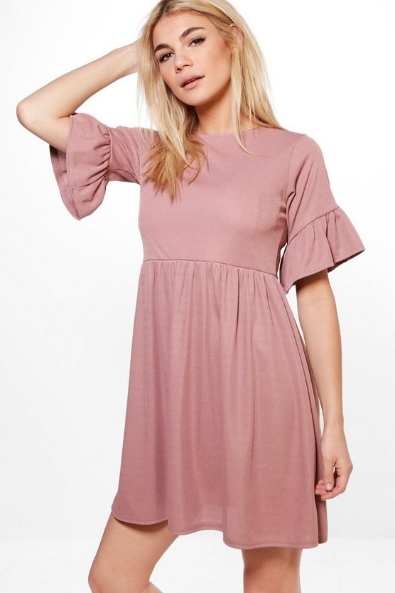 Alessia Ruffle Sleeve Skater Dress