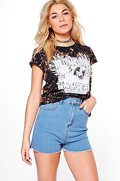Ashleigh Super High Waist Mom Shorts