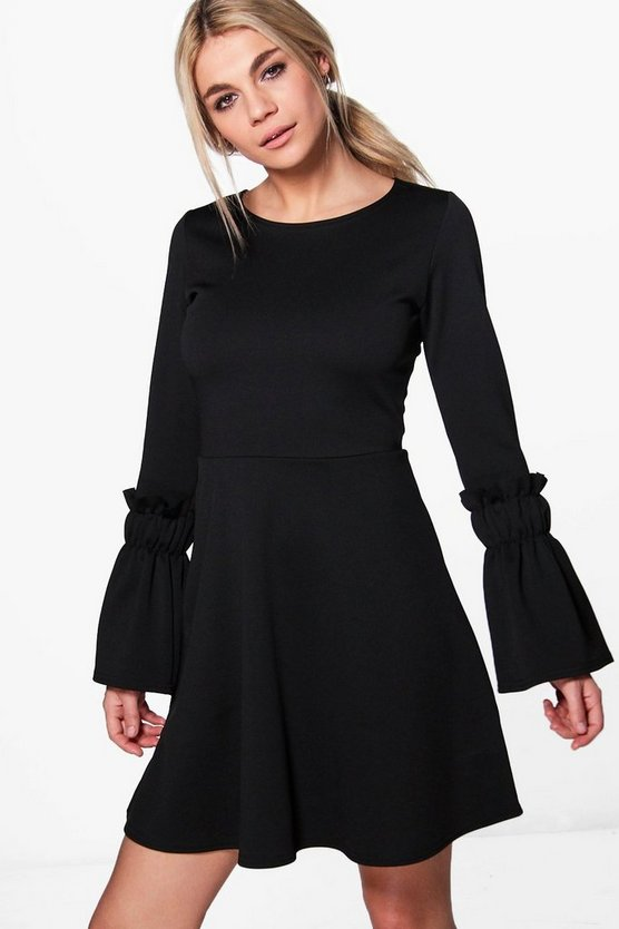 Olivia Frill Sleeve Skater Dress