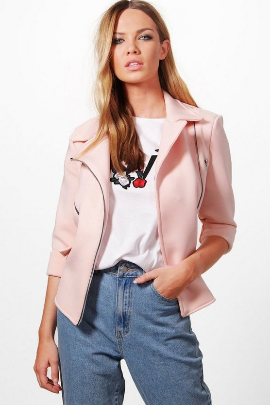 Evelyn Structured Biker Jacket
