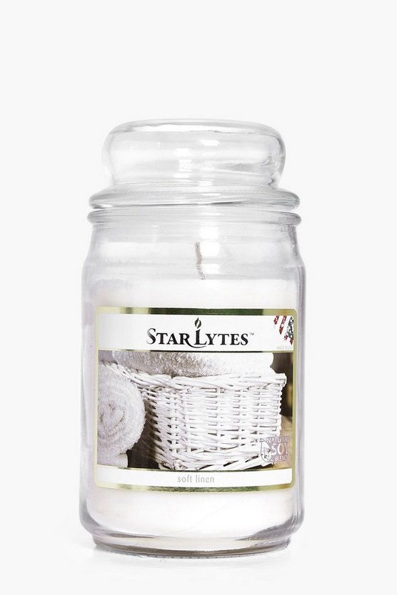 Soft Linen Scented 16oz Jar Candle