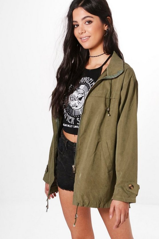 Molly Oversized Hooded Utility Jacket