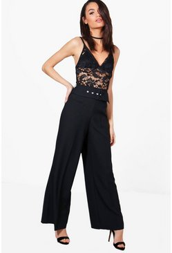 Aurera Deep Waistband Wide Leg Woven Trousers