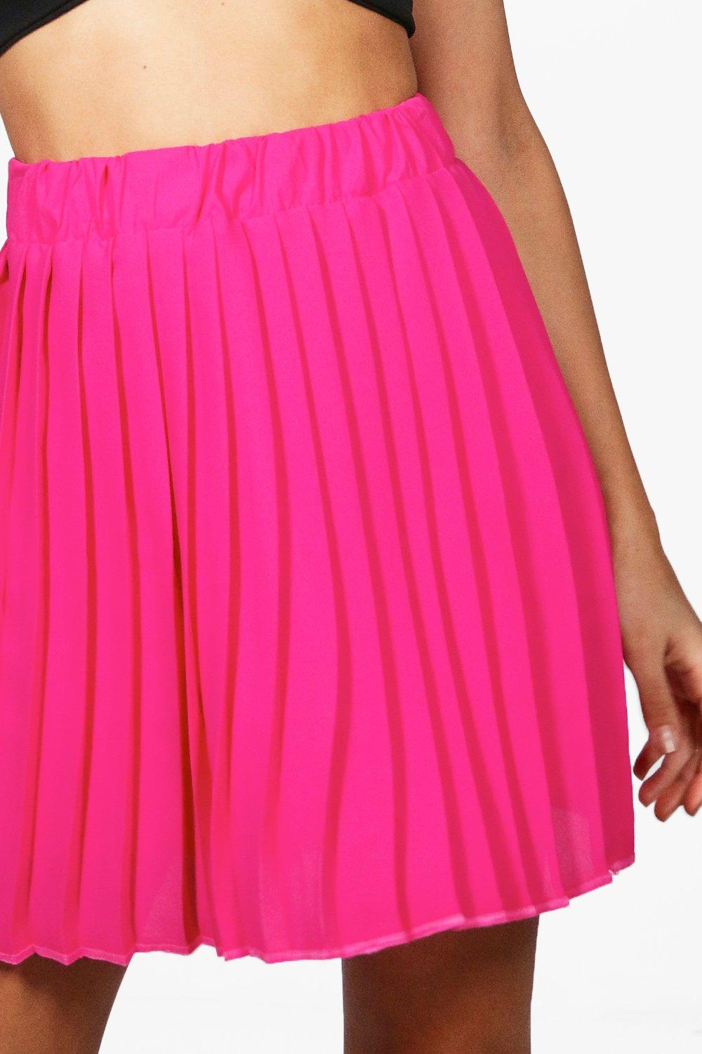 Wonderful About Womens Stretch Elastic High Waist Summer Pleated Flared Skirt