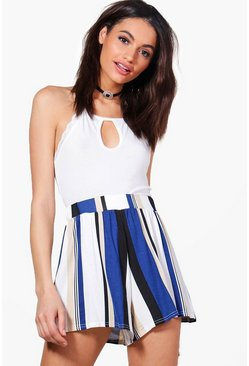 Jenna Stripe Flippy Shorts