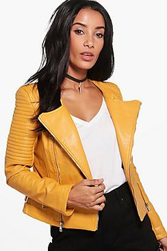 Heidi Boutique Faux Leather Biker Jacket