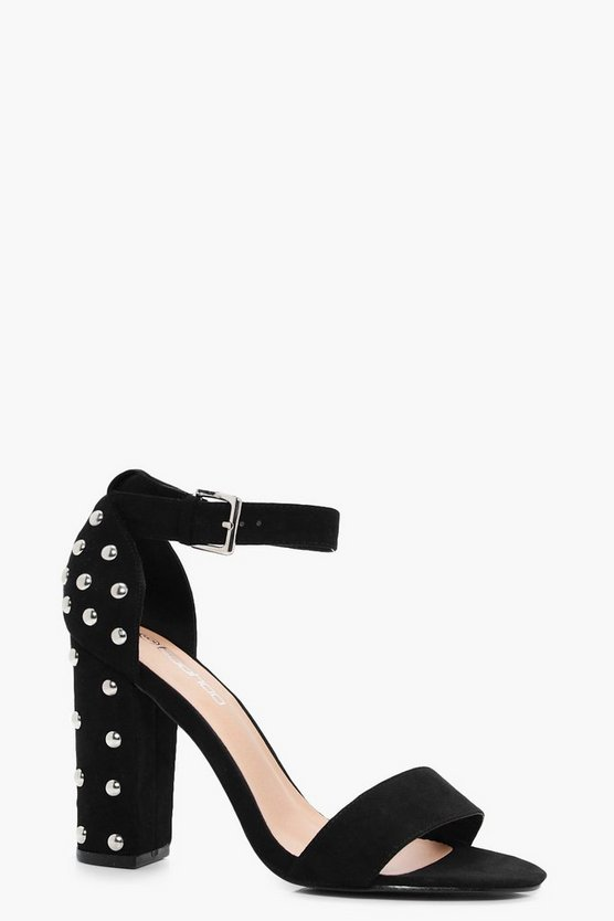 Alice Studded Back Two Part Block Heels