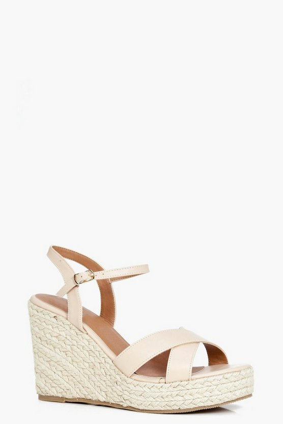 Poppy Cross Front Espadrille Wedge